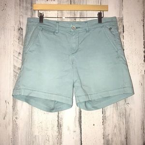 Pilcro and The Letterpress Baby Blue Shorts
